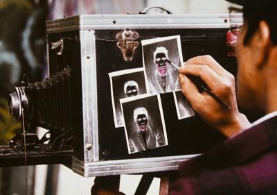 Photographer Retouching Paper Negative, Chichicastenango, Guatemala; Parker, Ann; 1971; 2009:0056:0023
