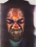 Tom Ingram as an African Mask; Sheridan, Sonia Landy; 1971; 1981:0039:0018