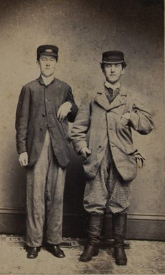 Untitled [Two Men with Hats] ; Jameson, Charles; Undated; 1994:0001:0006