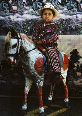 Boy On a Papier-mache Horse, Solola, Guatemala; Parker, Ann; 1972; 2009:0056:0017