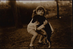 Untitled [Girl and dog]; Haac, Cliff; 1973; 1973:0095:0001