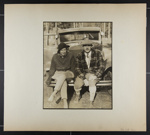 [woman and man sitting on car bumper]; Hahn, Alta Ruth; ca.1930; 1982:0020:0016