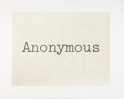 Untitled [Anonymous]; Manchee, Doug; 2009; 2009:0060:0070