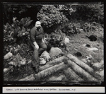 Ramon, With Bowling Balls and Rocks In His Garden; Stone, Jim; ca. 1985; 1986:0013:0008