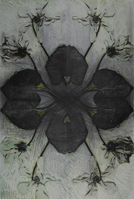 Untitled [Flower pattern]; Lyons, Joan; ca. 1970s; 1987:0090:0017