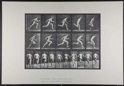 Running full speed. [M. 63]; Da Capo Press; Muybridge, Eadweard; 1887; 1972:0288:0015