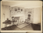 Untitled, (Simple fireplace and nearby furniture). ; Moulton-Erickson Photo Co.; c.a. 1890; 1977:0074:0009
