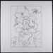 Untitled [Figure with a head consisting of biomorphic shapes]; Rossi, Barbara; 1970; 1972:0096:0072