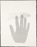Untitled, (Hand comprised of dots and overlapped by an ink spiral, 1977).; Friedlaender, Bilgé; 1977; 1980:0013:0011