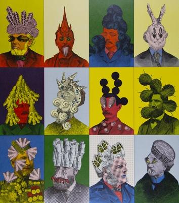 Untitled [12 Heads]; Rowe, Willyum (William); ca. 1970s; 2000:0105:0001
