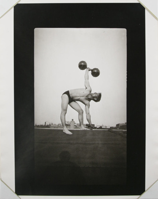 Untitled [Body builder on roof]; Gay, Arthur; ca. 1920s -- 1940s; 1981:0013:0015