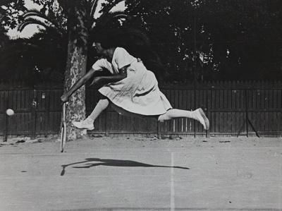 Untitled [Suzanne Lenglen]; Lartigue, Jacques-Henri; 1911; 1977:0091:0009