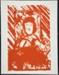 [Head, hand, steering wheel and red streaks that seem like rain]; Fichter, Robert; ca. 1960-1970; 1983:0059:0001(a)