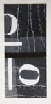 [Untitled, wall with the number zero painted with stencil]; Wells, Alice; ca. 1962; 1972:0287:0223