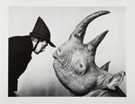 Dali with Rhinoceros; Halsman, Philippe; 1956; 1987:0014:0003