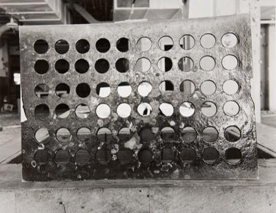 Untitled [Metal sheet]; Paris, Bill; ca. 1970s; 1979:0038:0005