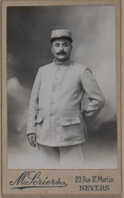 Untitled [Studio portrait of a man in uniform]; Seriers, M.; 1994:0004:0009