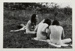 [Four nudes sitting in a field]; Uzzle, Burk; 1968; 1971:0376:0001