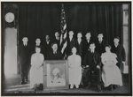 Untitled, [group of young people and an older gentlemen seated by a picture of President George Washington]; Wells, Alice; ca. 1970; 1973:0190:0010