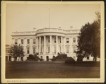 The White House (rear view) of Executive Mansion. Residence of the Presidents of the US; Bell, C.M.; ca. 1900; 76:003:15