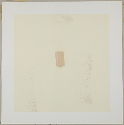 Untitled [Wooden square in yellow field with glitter]; Zucker, Joe; ca. 1970; 1972:0096:0052