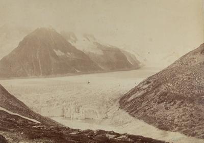(The Oberland) Aletsch Glacier and Eggischhorn, from Concordia Hut; Sella, Vittorio; ca. 1884; 1979:0114:0005