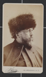 [Portrait of Bayard Taylor wearing a fur hat]; Sarony, Napoleon; 1981:0053:0120