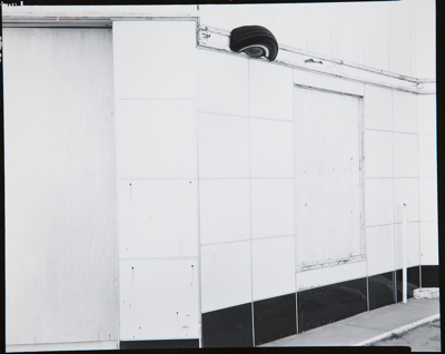Untitled [Wall and tire]; Parker, Bart; 1968; 1981:0093:0005