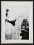 Untitled [Woman Protester Next to Loudspeaker]; von dem Bussche, Wolf; ca. 1950-1970; 1971:0351:0001