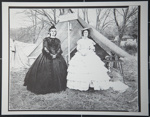 [Untitled, Two female Civil War Re-enactors at the U. S. Sanitary Commission tent].; Hendee, Keith F.; 1981; 1981:0098:0007