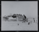 Father and son walking in the face of a dust storm; Rothstein, Arthur; 1936; 1971:0124:0001