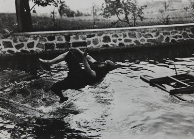 Swimming Pool at Château de Rouzat, My Cousin Jean Haguet; Lartigue, Jacques-Henri; 1910; 1977:0091:0008