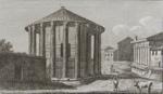 Veduta Dei Tempj di Vesta, e Della Fortuna Virile; Parboni, Pietro; ca. 1824; 1976:0011:0001
