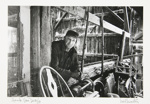 Untitled, [Man standing in a sawmill].; Newton, Neil; 1971; 1974:0015:0013