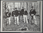 [Untitled, Seven Civil War Re-enactor's standing with their guns in the woods].; Hendee, Keith F.; 1981; 1981:0098:0003