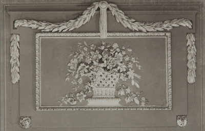 Untitled [Floral wall detail]; Boissonnas, Frederic; ca. 1920; 1982:0010:0001