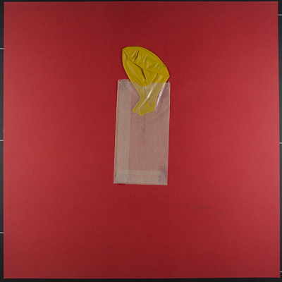 Untitled [Glassine bag and yellow balloon.]; Rozran, Bernard; 1970; 1972:0096:0041