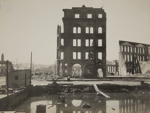Ruins at Market and Drumm Street. Ferry Landing after fire; Chadwick, Harry W. (1860-1933); 1906; 1978:0151:0059