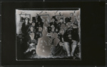 [Untitled, group costume portrait with some masks].; Wells, Alice; c.a. 1970; 1988:0027:0001