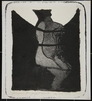 Diagram for a Puppet Dance; Fichter, Robert; ca. 1960-1970; 1971:0397:0001