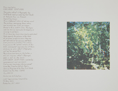 Untitled [Promotional card]; Hyde, Scott; 1975; 1981:0024:0013