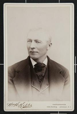 Portrait of Mr. William Stoutnew of Gloversville, NY; Kibbe, William H.; circa 1890; 1977:0036:0039