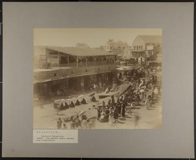 Bazars de Jaffa; Bonfils, Félix; c.a. 1870; 1977:0022:0004