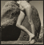 Untitled [Nude woman leaning on a rock formation]; Dutton, Allen; ca. 1970s; 2000:0142:0006