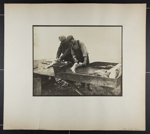 [two men cleaning fish at outdoor bench]; Hahn, Alta Ruth; ca.1930; 1982:0020:0013