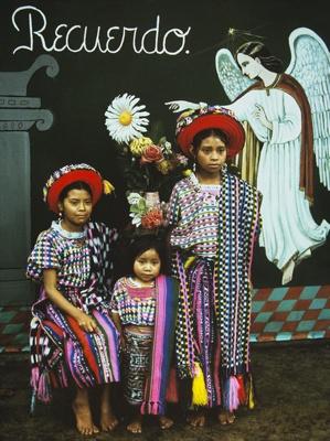 Three Sisters With Painted Angel, Santiago Atitlan, Guatemala; Parker, Ann; 1972; 2009:0056:0015