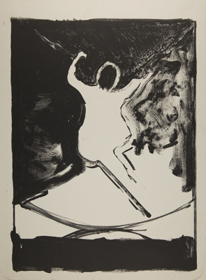 Untitled [figure leaping]; Fichter, Robert; ca. 1965; 2000:0061:0010