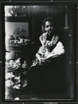 Untitled, [female child with china]. ; Wells, Alice; c.a. 1970; 1988:0023:0004