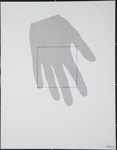 Untitled, (Hand pointed down with a square superimposed on top of the hand).; Friedlaender, Bilgé; 1976; 1980:0012:0007