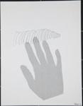 Untitled, (Hand comprised of dots, overlapped by a spiral). ; Friedlaender, Bilgé; 1976; 1980:0012:0008